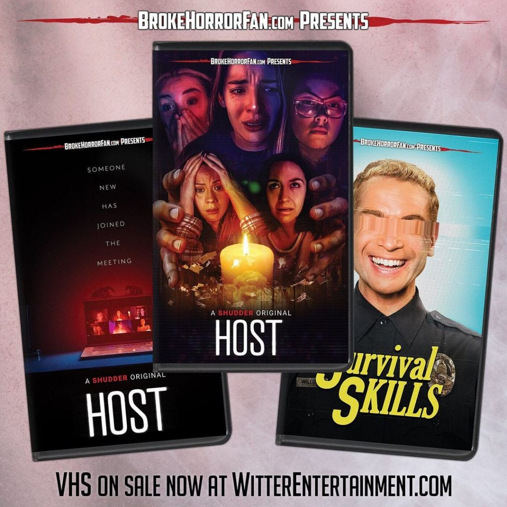 MAYHEM, HOST & SURVIVAL SKILLS Now Available on Limited Edition VHS from Broke Horror Fan & Witter Entertainment