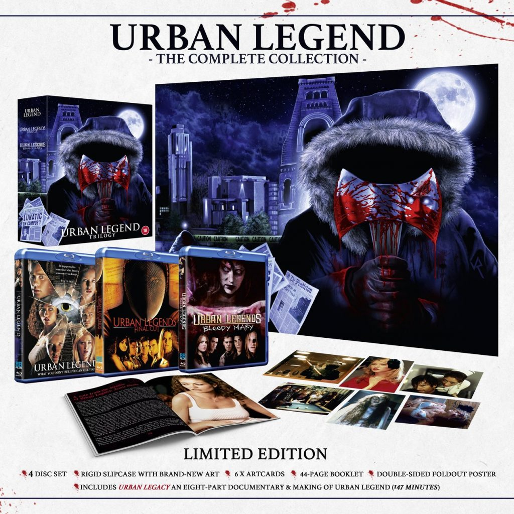 Limited Edition URBAN LEGEND TRILOGY Available on Blu-ray from 88 Films (UK / 12 April)