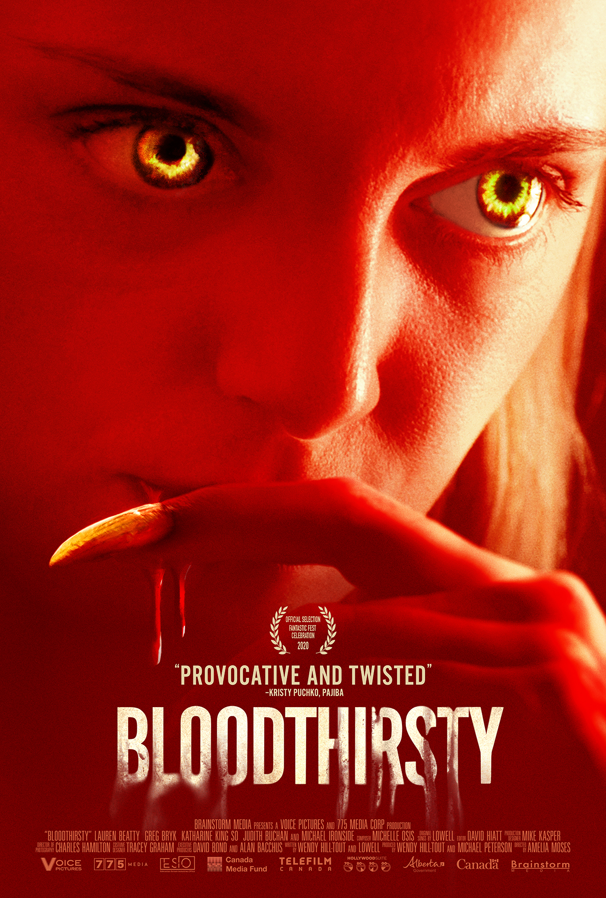 Brainstorm Media's BLOODTHIRSTY & Lowell's BLOODTHIRSTY (MUSIC FROM THE MOTION PICTURE) EP Available Now!