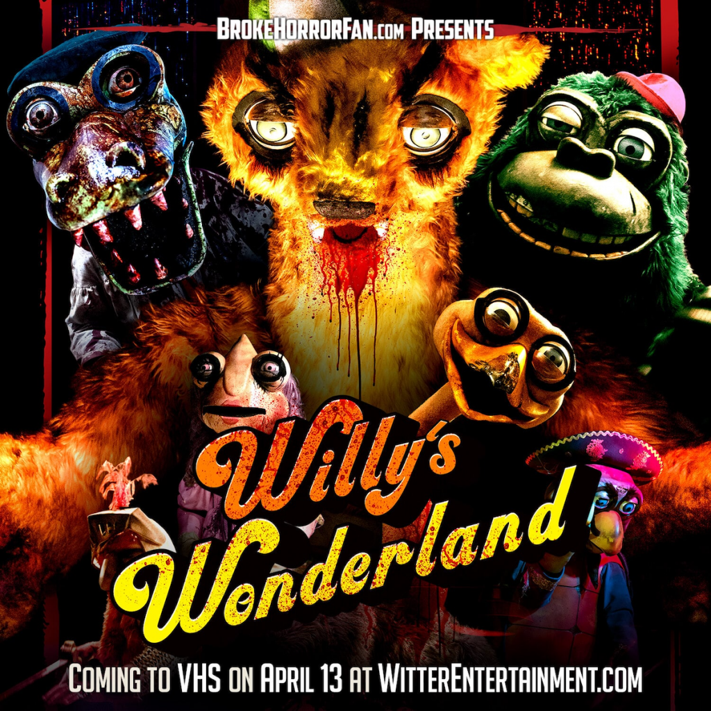 Let Playtime Begin with WILLY'S WONDERLAND on Limited Edition VHS (USA / 13 April) Courtesy of Broke Horror Fan & Witter Entertainment