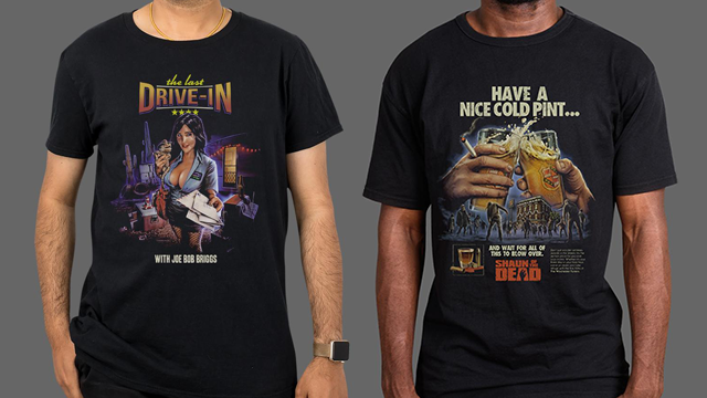 THE LAST DRIVE-IN WITH JOE BOB BRIGGS & SHAUN OF THE DEAD Merchandise Available from Fright-Rags