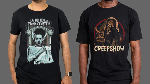 NIGHT OF THE LIVING DEAD, UNIVERSAL MONSTERS & CREEPSHOW Merchandise Now Available from Fright-Rags