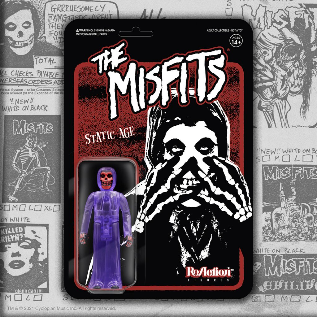 Super7 THE MISFITS Static Age & RANCID Glow-in-the-Dark ReAction Figures Now Available