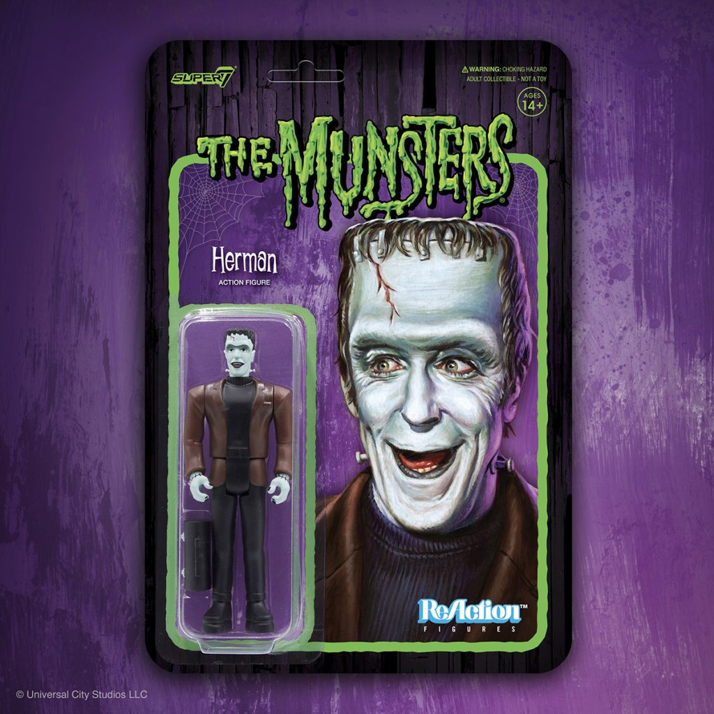 Super7 THE MUNSTERS ReAction Figures Now Available