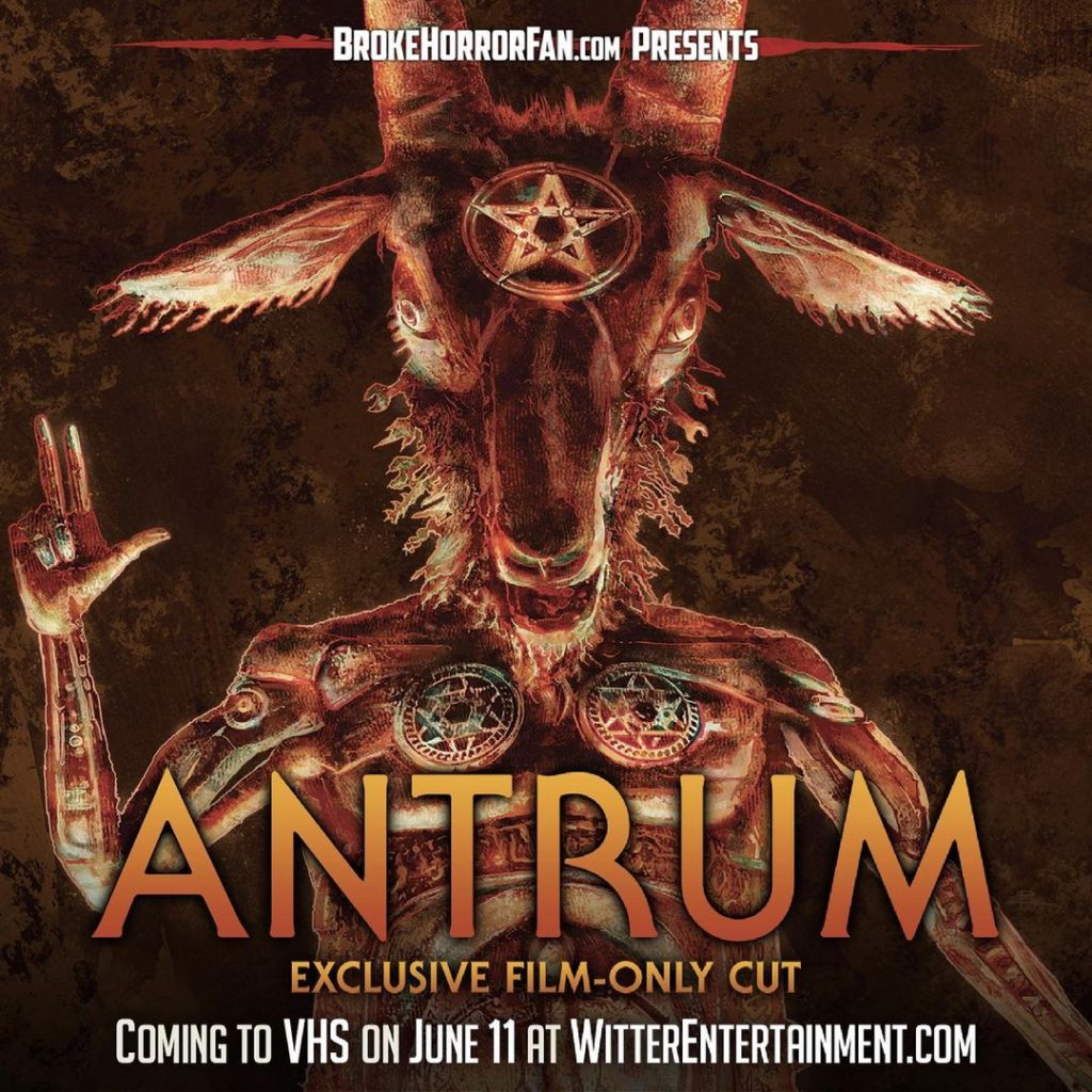ANTRUM Returns to VHS in Exclusive Film-Only Cut! Available Now from Broke Horror Fan & Witter Entertainment
