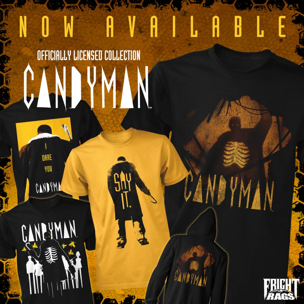 Dare to Wear Fright-Rags' CANDYMAN, THE 'BURBS, HIGHLANDER, & BACK TO THE FUTURE Apparel